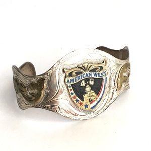 Vintage American West Cuff Bracelet Barrel Racing